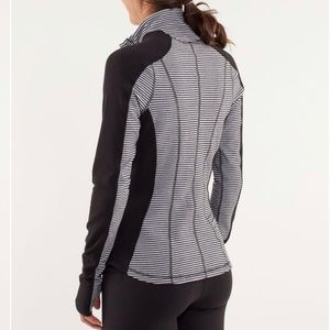 Lululemon Run U-turn Pullover black striped rulu 6